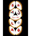 Réglette Noël n°1 - 9 Calissons