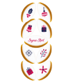 Réglette Noël n°3 - 9 Calissons